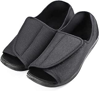 MEJORMEN Women Diabetic Slippers Edema Open Toe Adjustable Shoes Wide Width Footwear Flexible Sturdy Soles Support for Tender Swollen Feet