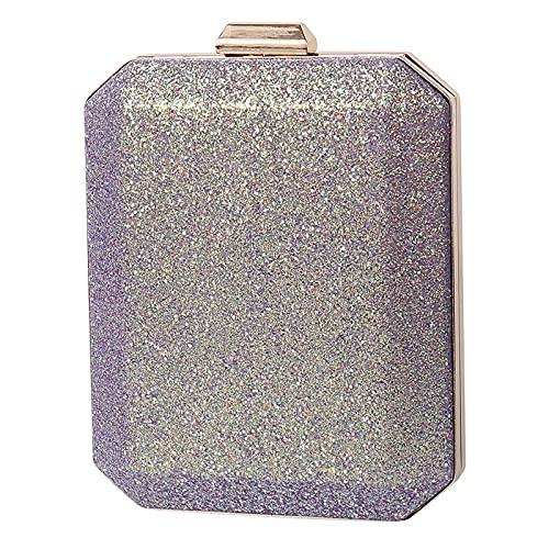 QIANJINGCQ, bolso de cena de moda con personalidad de todo fósforo, bolso de hombro con purpurina de color fantasma, bolso de banquete, bolso de mano, bolso femenino de diseño simple