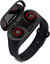 M1 2 in 1 Smart Bracelet Wireless Bluetooth Headset Combo Running Music Wristband Earphone Heart Rate Blood Pressure Fitne...