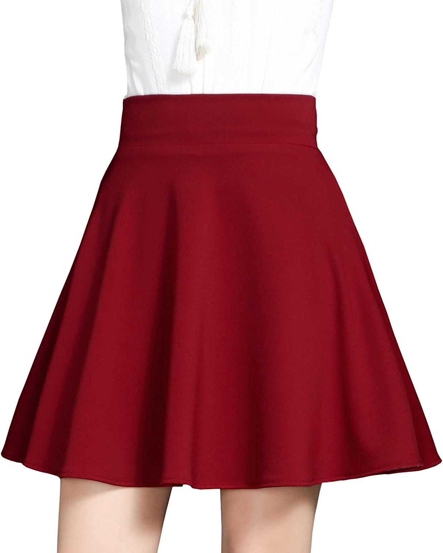DISSA BA903 Women Pleated Mini A-Line Skirt