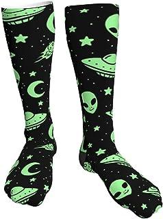 iuitt7rtree Calcetines Casuales Unisex, Extraterrestres y Naves espaciales Calcetines Deportivos Calcetines de compresión ...
