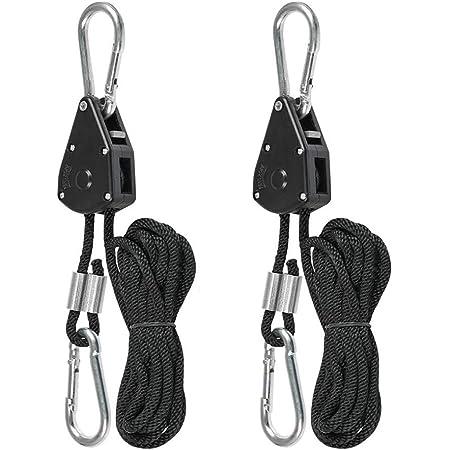 Hyindoor Sangle à Cliquet Corde 1//8 pouces Rope Ratchet Robuste Réglable...