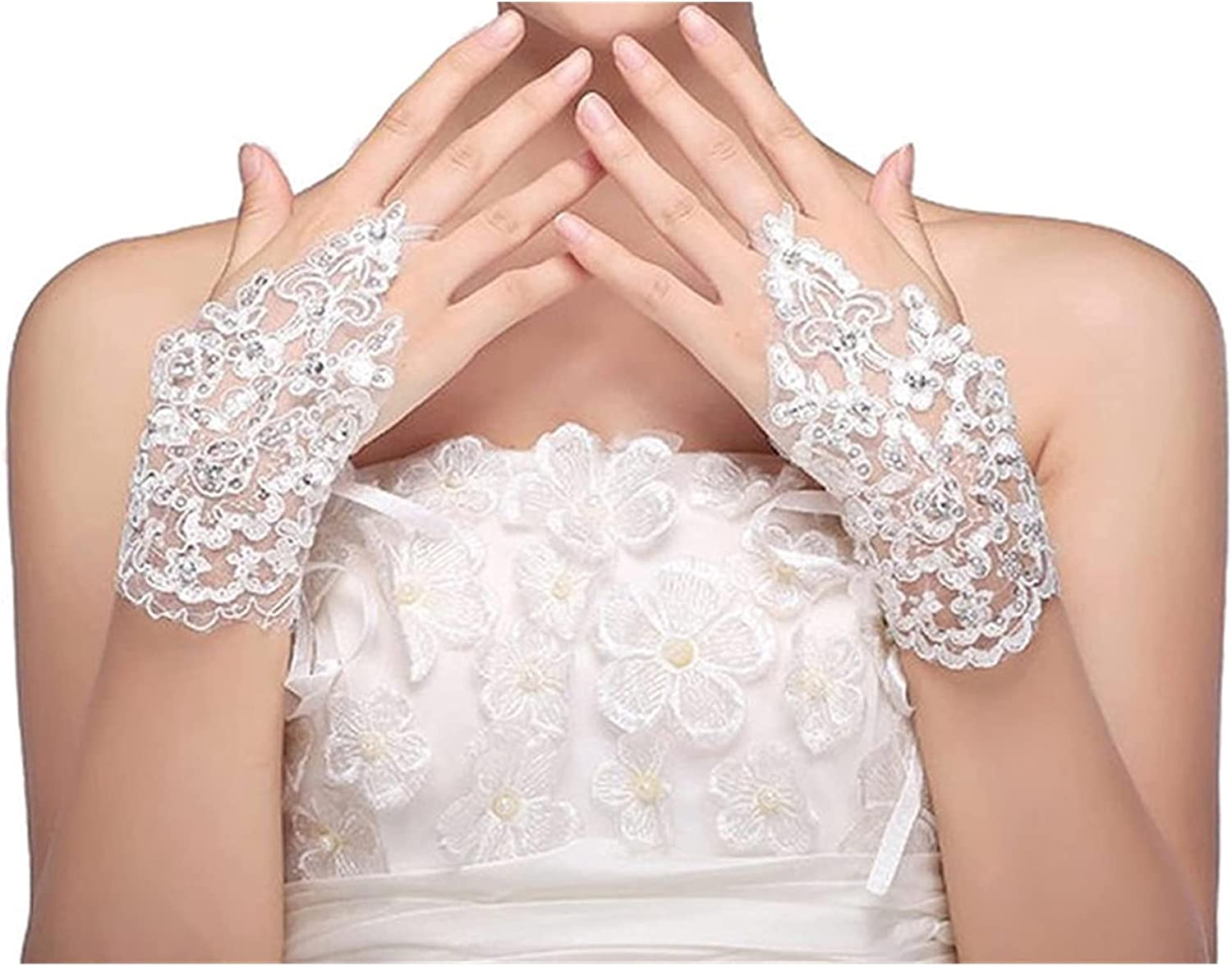 CHHNGPON Bridal Gloves 1 Accessories Fin NEW before selling Las Vegas Mall Gown Pair