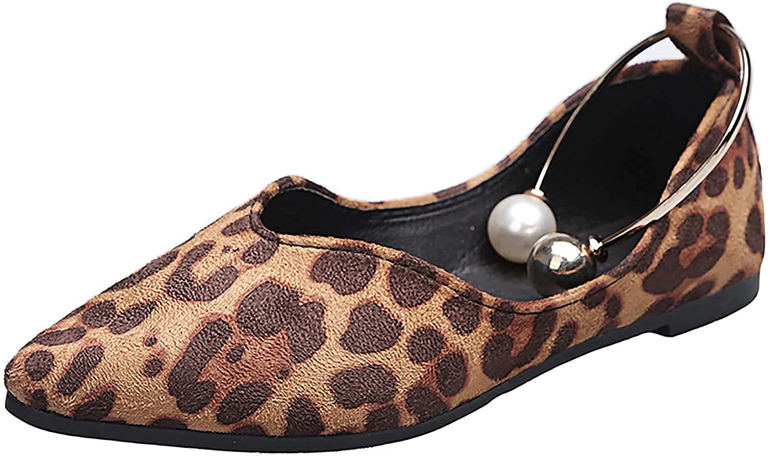 OVERTERD Women's Pointed Shallow Platform Pearl Su Leopard Ranking TOP13 Solid Tampa Mall