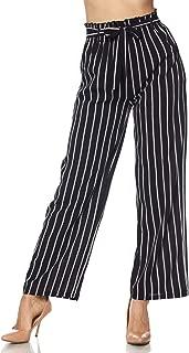 Women's High Waist Casual Wide Leg Palazzo Paper Bag Pants