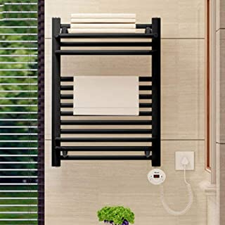 HYY-YY. Elektryczny podgrzewacz na ręczniki, z termostatem po bokach przymocowany na stałe do ściany, do łazienki