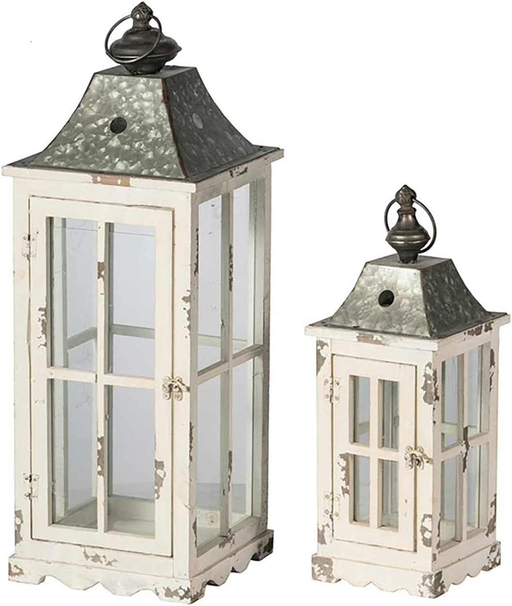 AB Home Candle Special sale item Holder Lantern Max 51% OFF Tall 18.5'' Distressed 27.5'' A