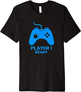 Player 1 tshirt in combo with player 2 and 3 for new parents