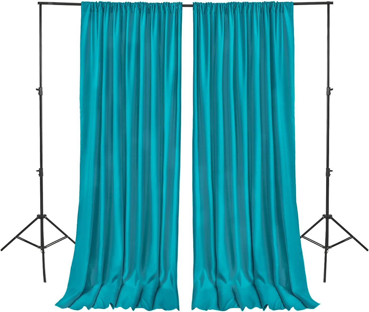 Hiasan お買い得 新商品 新型 Turquoise Backdrop Curtains Polyester for Parties Photog