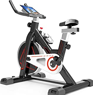 Indoor Sports Bike, Direct Belt Drive 10Kg Flywheel Magnetoresistive 7 Function Monitor, Low Noise Ergonomic Design Adjust...