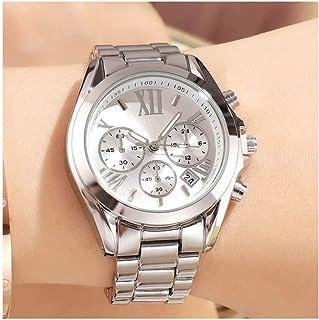 Women Watches Wrist Girls Watch Clock Lady Waterproof Fashion Steel Strap Rose Gold Gifts For Women (Color : B)