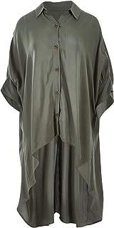 Boho Bird Womens Blouses Sway with Me Oversized Shirt Khaki - Tops