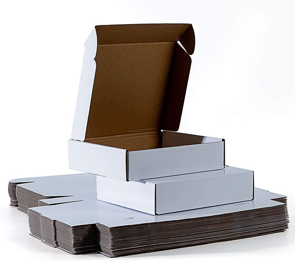 AFMPIPEI 9x7.5x2 inches Shipping Boxes Corrugat San Francisco Mall 25 White We OFFer at cheap prices Set of