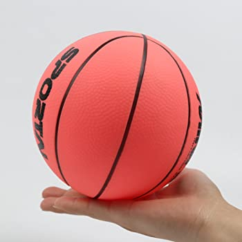 Stylife 5inch Mini Basketball for Kids, Inflatable Ball Environmental Protection Material,Soft and Bouncy,Colors Varied