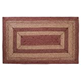 Best Braided Rugs - VHC Brands Burgundy Tan Jute Rug Rect 60x96 Review