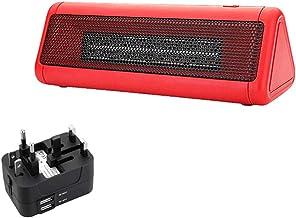 YLOVOW Mini Calentador De Escritorio Calefactor Función Silence Mini Calentador De Ventilador Protección contra Sobrecalentamiento De Cerámica Eléctrico Portátil,Rojo