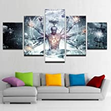 5 Panels Wall Art Canvases Print Alex Modular Grey Painting HD Picture for Home Living Room Wall Decor Artwork Wooden Framed Ready to Hang,A,40x60x2+40x80x2+40x100x1