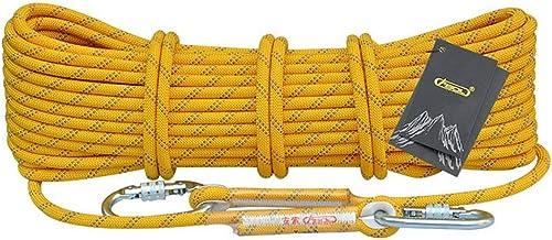ZPWSNH Corde d'escalade Corde Statique Travail aérien Corde Corde de Rappel extérieure diamètre 10.5 12   14mm Jaune Corde d'escalade (Taille   10.5mm 20m)