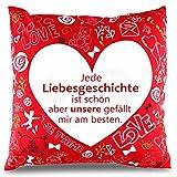 THE TWIDDLERS Valentinstag Kissen & Kissenbezug – Sofakissen, Zierkissen & Dekokissen als Geschenk...