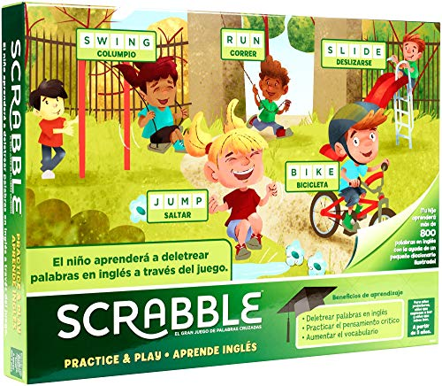 Mattel Games Scrabble Englisches Lernen, Brettspiel (Mattel GGB31)