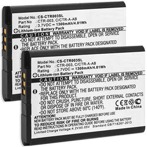 2X Batería para Nintendo 3DS, New 3DS, N3DS / Nintendo 2DS, New 2DS XL, N2DS XL/Controller di Nintendo Wii U Pro (reemplaza batería Original Nintendo CTR-001, CTR-003)