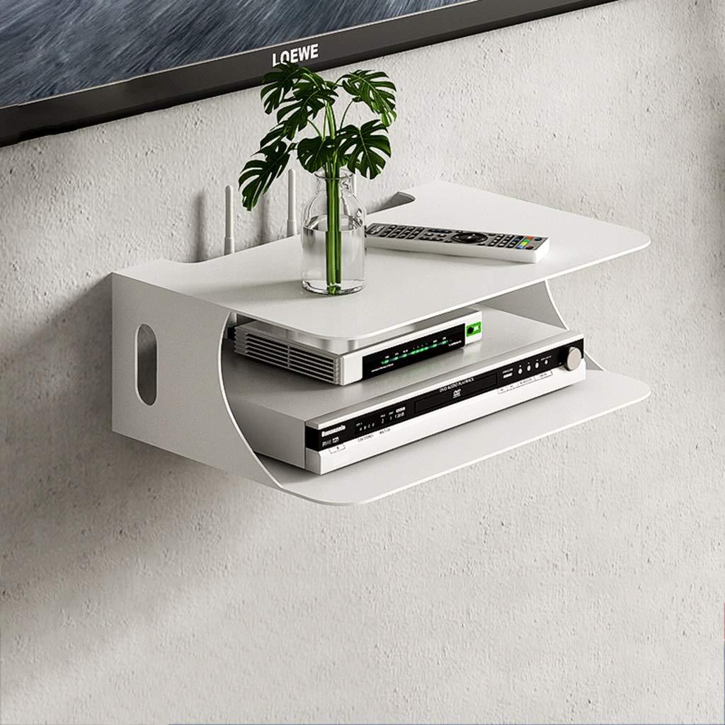 FDHLTR Consola Flotante montada en la Pared Dispositivo/Dispositivo de transmisión de parlantes de la Caja de TV del enrutador de WiFi. Mueble para TV de Pared (Color : White): Amazon.es: Hogar