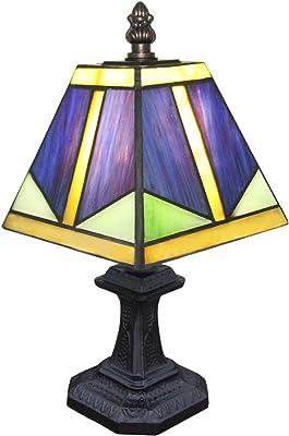 ZQH Mediterráneo Lámparas de Mesa, Creativo Vitral Habitación ...