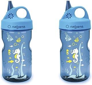 Nalgene Grip-N-Gulp Water Bottle - Blue Seahorse - 12-Ounce - 2 Count
