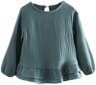 Colorful Childhood Toddler Girls T Shirt Princess Girl Ruffles Cotton Tops for Teen Girls