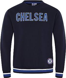 Chelsea FC Official Football Gift Mens Crest Sweatshirt Top