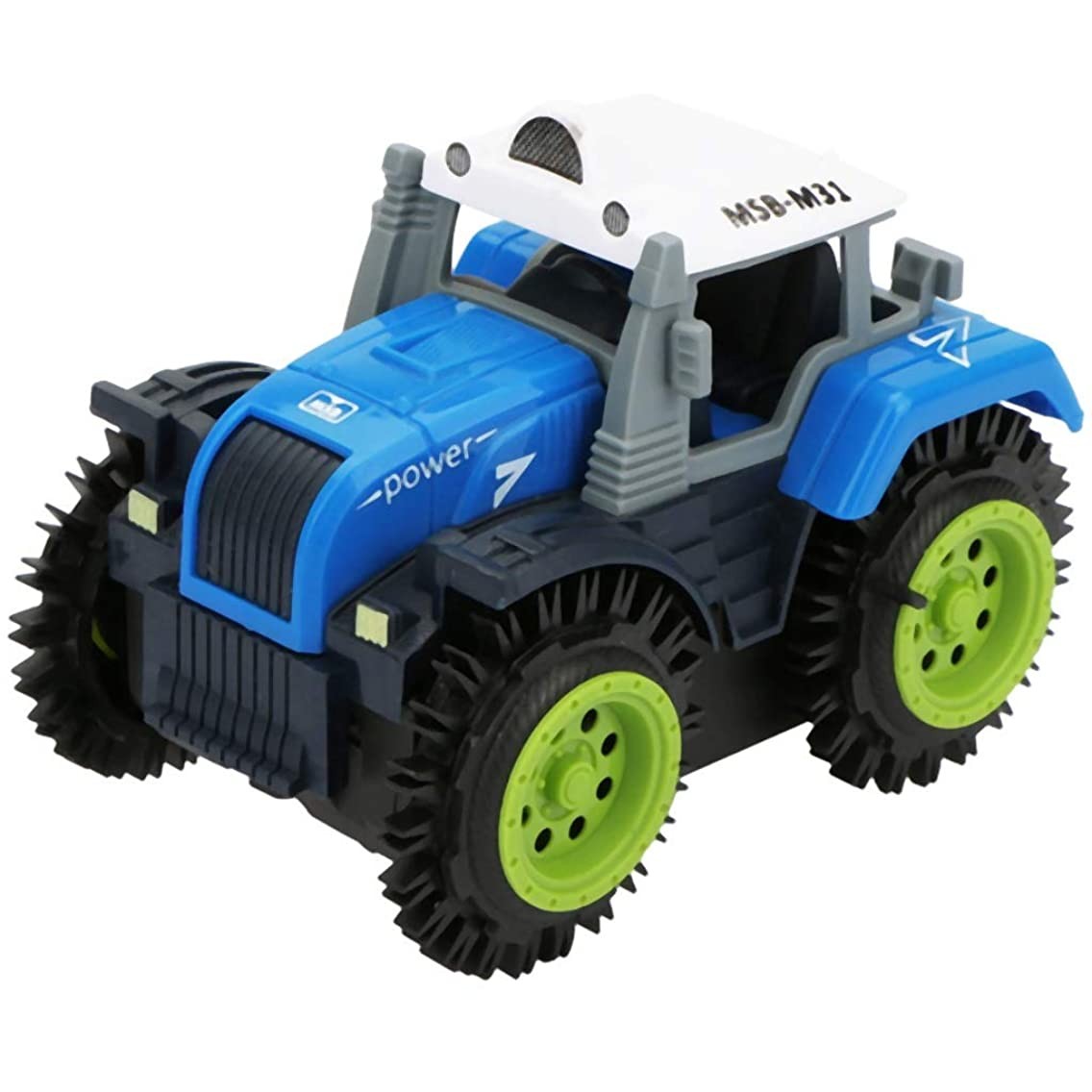 SODIAL Children Flip Toy Car Electric Stunt Farmer Car Child Dump Truck Simulation 4 Wheel Drive Electric Toy Car