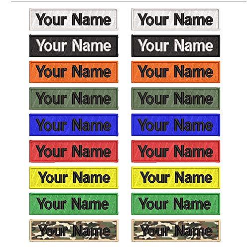 Custom Ricamo Nome Patch 2 pz Personalizzato Militare Numero Tag Personalizzato Logo ID per Più Abbigliamento Borse Gilet Giacche Camicia Lavoro(21,6x7,6 cm)