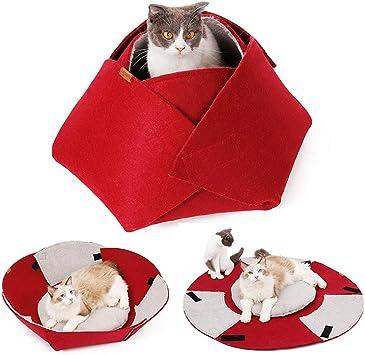 POPETPOP Cama de Gato Navide/ña Forma de Reno Creativo Casa de Cachorros Navidad C/álida Y Acogedora Cama de Invierno para Mascotas para Gato Mediano Peque/ño Gatito Perro Cachorro S