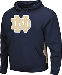 Colosseum Notre Dame Fighting Irish Navy Chrome Embroidered Synthetic Poly Hoodie Sweatshirt