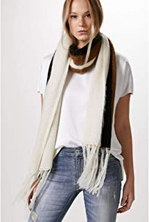 CACHECOL TRICOT LISTRAS-OFF WHITE