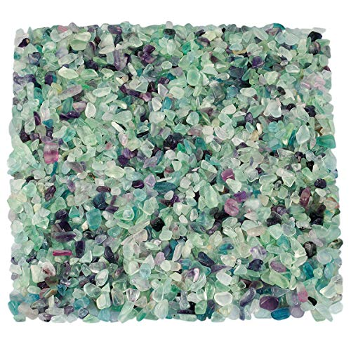 Piedra natural triturada KYEYGWO para decoración, grava de cristal de cuarzo para jardín, 1 libra...