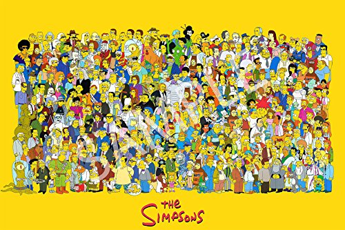 Best Print Store - The Simpson All Characters Collection Poster (24x36 inches)