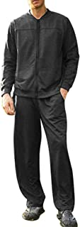 Men's Athletic Tracksuit Casual Full Zip Sweatsuits 2 Piece Jogging Suits for Running, Fitness, Exercise