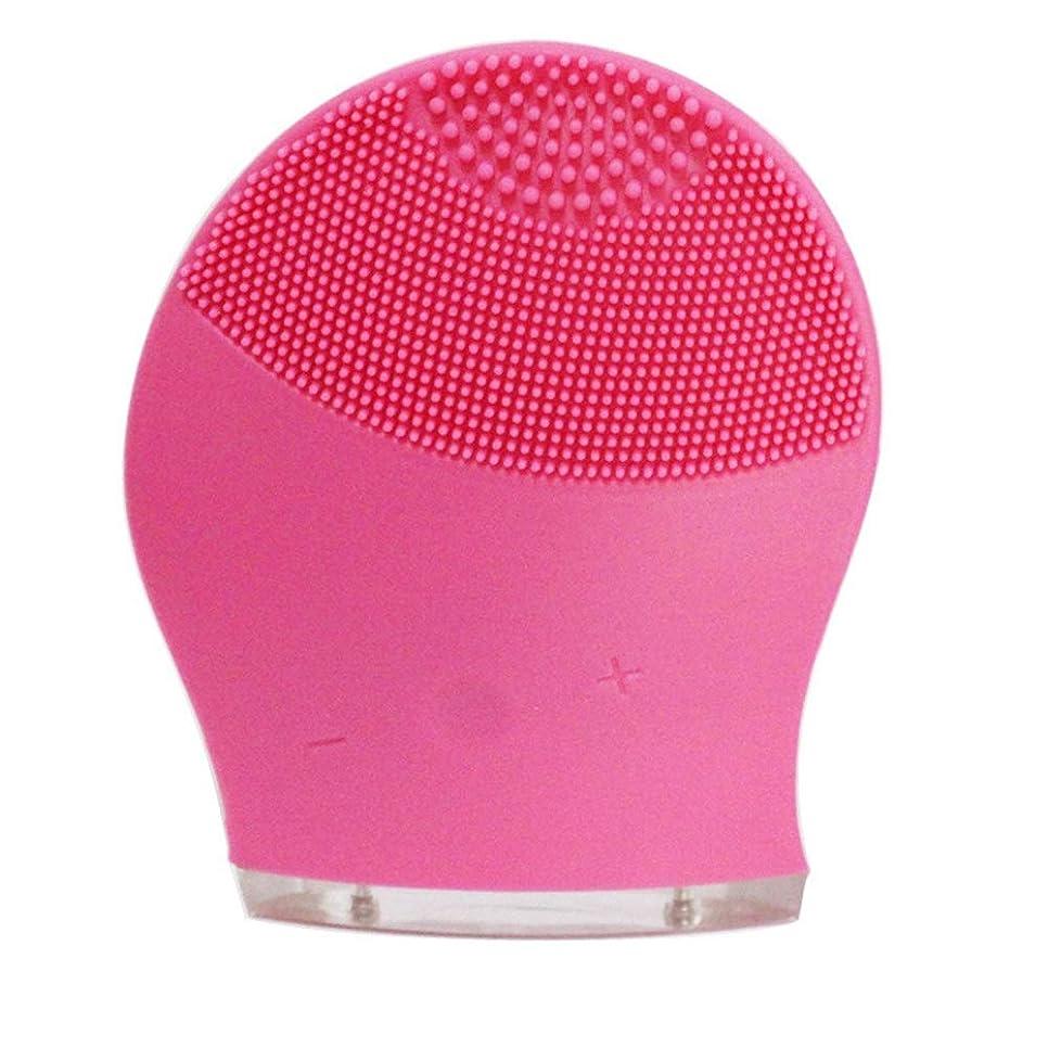 エール夜明けに咳ZXF 新電気洗浄器シリコーン洗浄器超音波振動洗浄ブラシUSB充電毛穴洗浄 滑らかである (色 : Red)