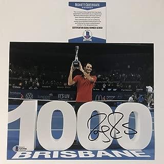 Autographed/Signed Roger Federer Tennis 8x10 Photo Beckett BAS COA Auto #3