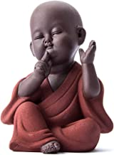 PPCP Ceramic Buddha Statue Tea Pet Purple Sand Monk Home Decoration Buddhist Monk Miniatures Ornaments Crafts Buddhism Gif...