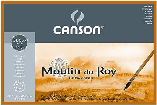 ahorra hasta un 50% Canson Moulin du Roy - Bloc papel de acuarela, acuarela, acuarela, 30.5 x 45.5 cm, Color blanco natural  con 60% de descuento