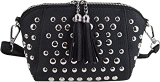 Heidi Women's Small Studs Crossbody Handbag Fashion Shell Shape Shoulder Messenger Bag