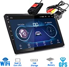 Polarlander 10 Inch Android 8.1 Universal Car Stereo Bluetooth 2 Din Android Car Radio Stereo Player GPS Navigation WiFi Bluetooth MP5 Player with Rear View Camera and DVR