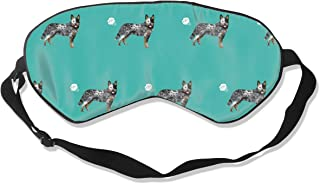 Australian Cattle Dog Fart Funny Cute Dog Breed Bl Silk Sleep Mask Comfortable Blindfold Eye mask Adjustable for Men, Women or Kids