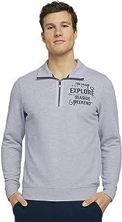 TOM TAILOR Men's Troyer Sweatshirt