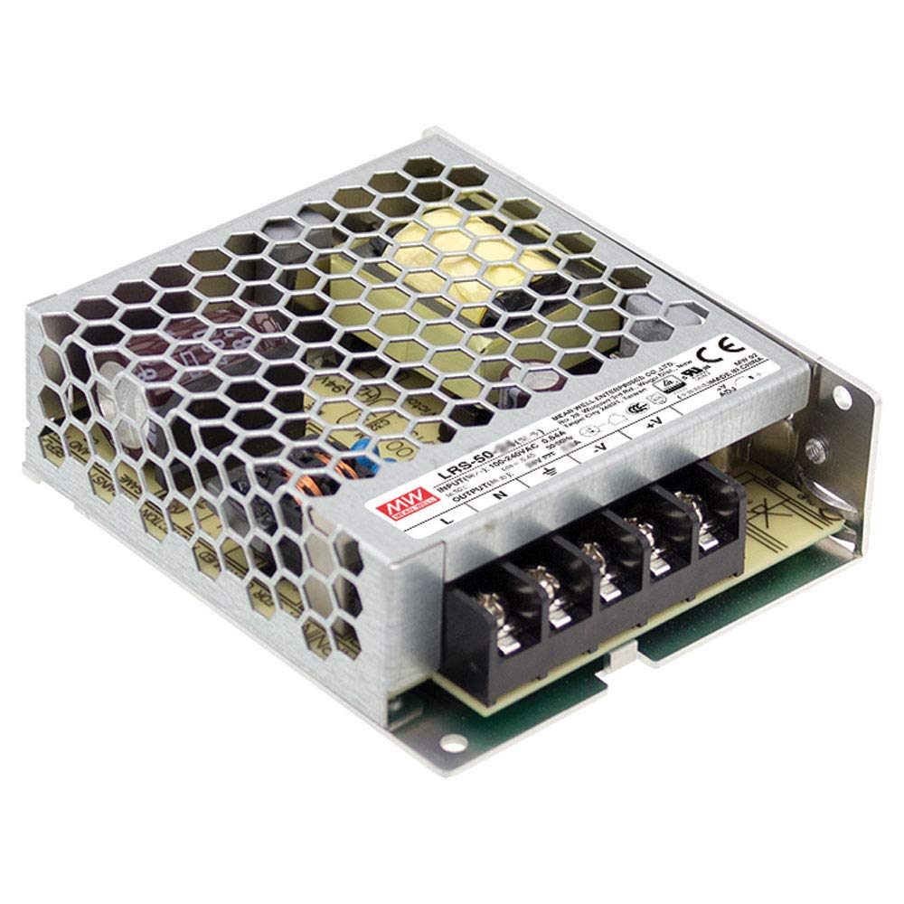 Mean Well LRS-50-5 Switching Power Supply, Single Output, 5V, 10A, 50W, 3.9