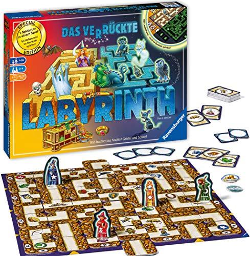 Ravensburger 26687 - Labyrinth Glow in the dark - Familienklassiker mit Leuchtfarbe, Spiel für Kinder und Familien ab 7 Jahren - Gesellschaftspiel geeignet für 2-4 Spieler - Schätze suchen