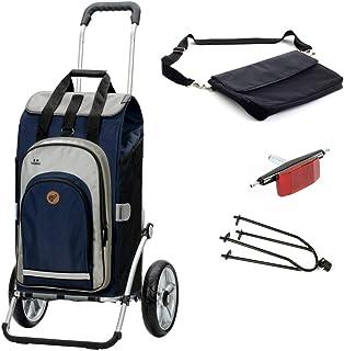 Andersen shoppingvagn Royal med cykelkärra koppling och 62 liters shoppingväska Hydro 2.0 blå med kylfack, extra laptopväska