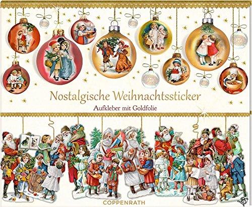 Stickerbuch - Nostalgische Weihnachtssticker: Aufkleber mit Goldfolie